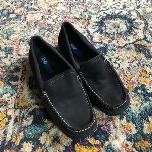 Keds Navy Blue Suede Loafers Size 7